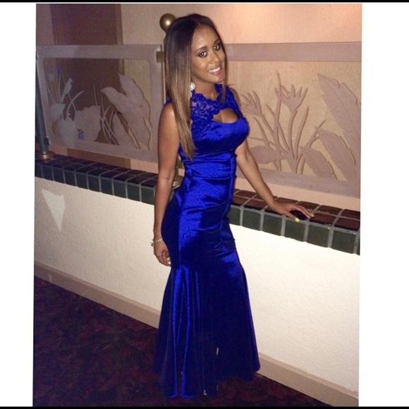 06c49f884a084 Xscape Dresses | Blue Lace Top Wedding Dress | Poshmark